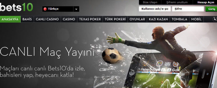 bets10 casino ve canlı casino